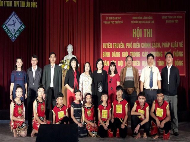 """Hội thi """"Tuyên truyền, phổ biến chính sách, pháp luật về bình đẳng giới trong các trường phổ thông dân tộc nội trú trên địa bàn tỉnh Lâm Đồng"""""""