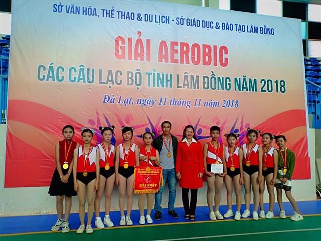 Giải Aerobic các câu lạc bộ tỉnh Lâm Đồng năm 2018